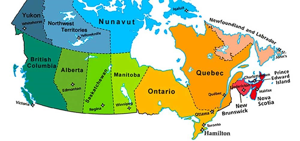 Map Of Provinces In Canada.Hardest Working Provinces In Canada Mitrefinch Blog
